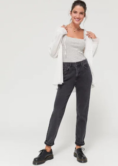 Urban Outfitters Exclusives BDG High-Waisted Mom Jean - Washed Black Denim