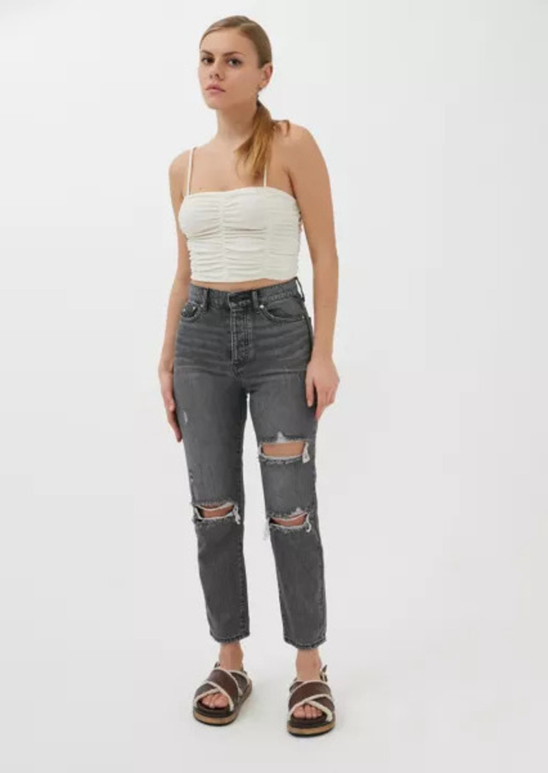 Urban Outfitters Exclusives BDG High-Waisted Slim Straight Jean - Washed Black