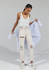 Urban Outfitters Exclusives BDG High-Waisted Light Wash Slim Straight Jean