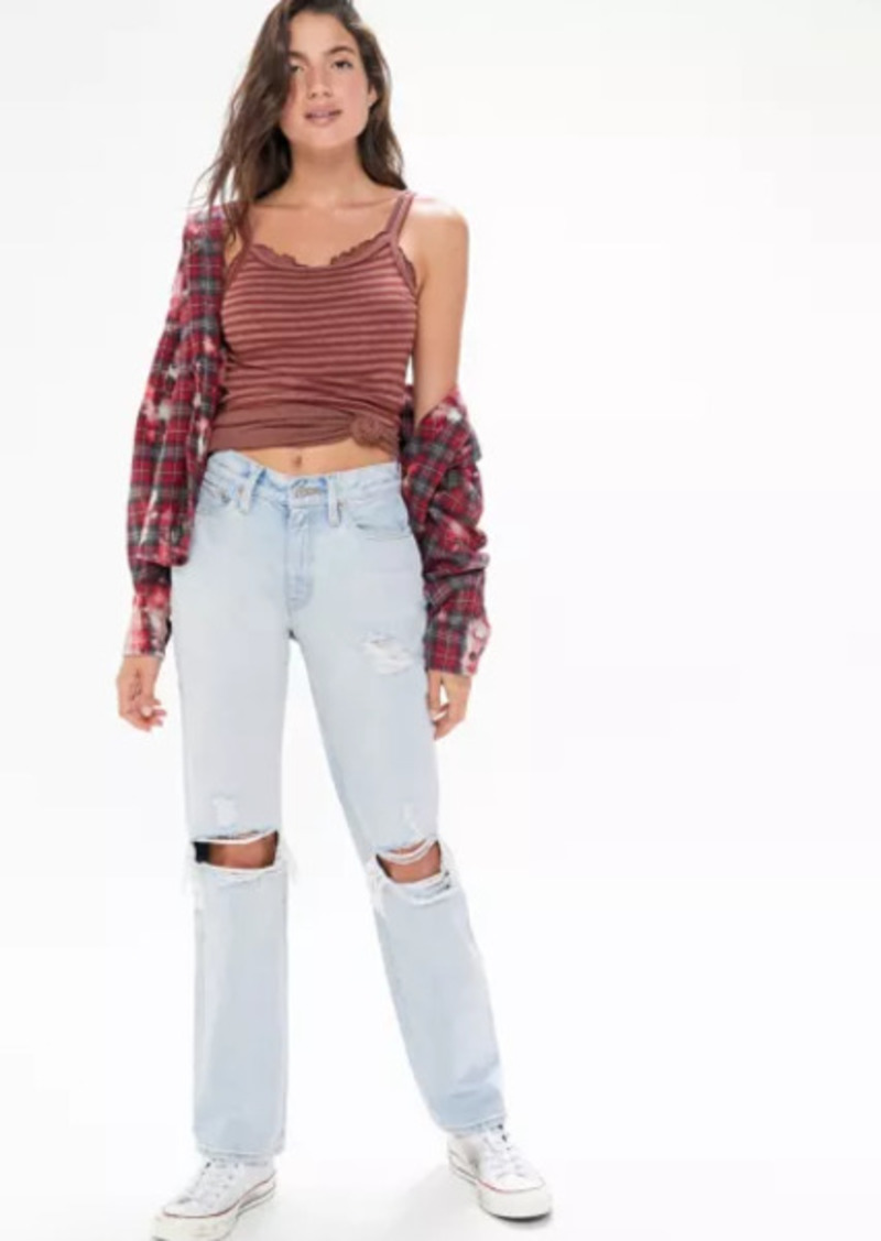 Urban Outfitters Exclusives BDG Mid-Rise Bootcut Jean - Destroyed Light Wash