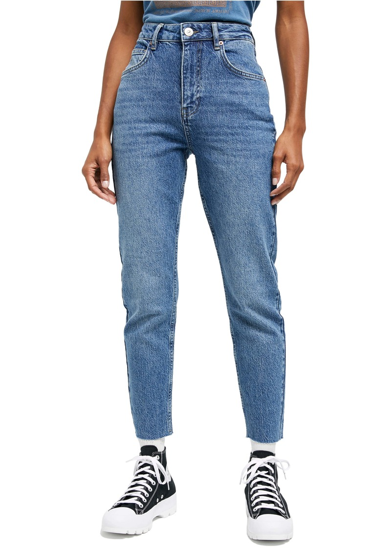 Urban Outfitters Exclusives BDG Urban Outfitters Edie High Waist Raw Hem Skinny Jeans (Mid Vintage)