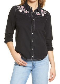 Urban Outfitters Exclusives BDG Urban Outfitters Embroidered Denim Shirt