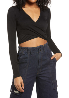 Urban Outfitters Exclusives BDG Urban Outfitters Faux Wrap Crop Top