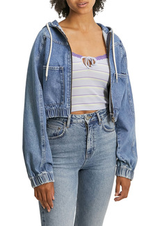 Urban Outfitters Exclusives BDG Urban Outfitters Lea Hooded Denim Bomber Jacket