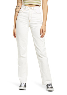 Urban Outfitters Exclusives BDG Urban Outfitters Pax High Waist Nonstretch Organic Cotton Blend Jeans (Milk White)