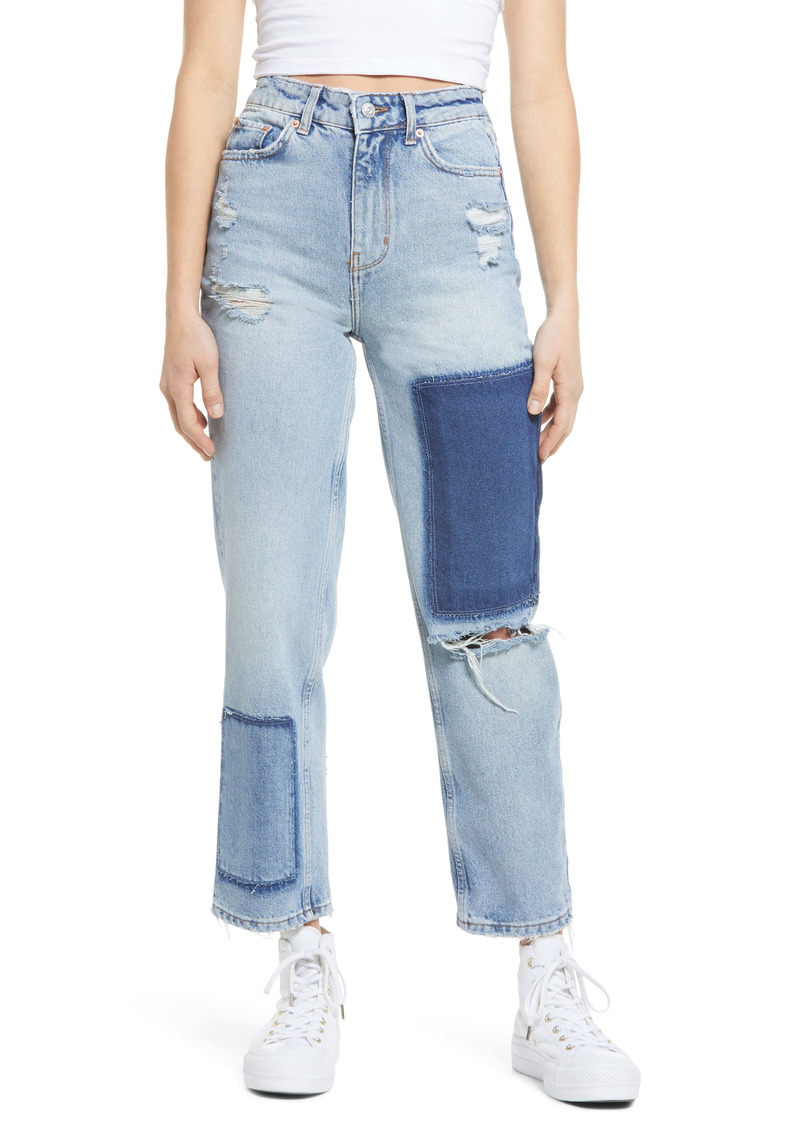 Urban Outfitters Exclusives BDG Urban Outfitters Pax High Waist Nonstretch Patchwork Jeans