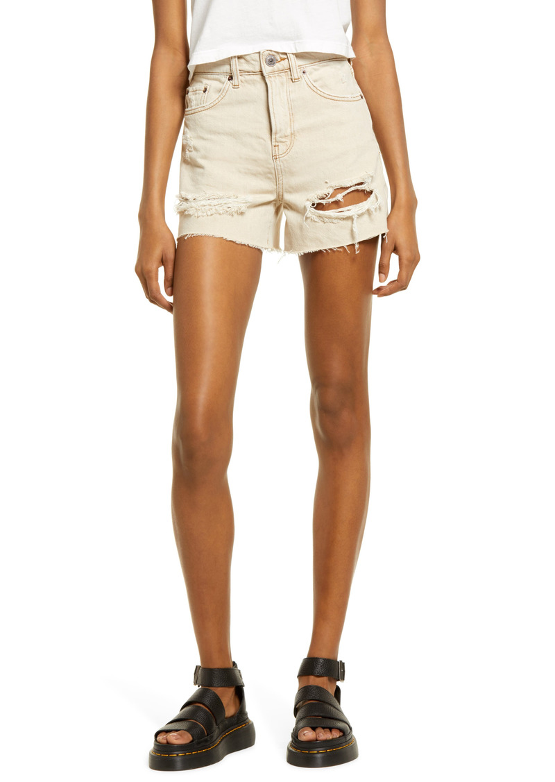 Urban Outfitters Exclusives BDG Urban Outfitters Pax Ripped High Waist Denim Shorts