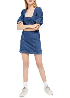 Urban Outfitters Exclusives BDG Urban Outfitters Puff Sleeve Denim Body Con Minidress