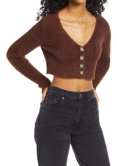 Urban Outfitters Exclusives BDG Urban Outfitters Rochelle Fluffy Crop Cardigan