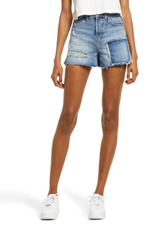 Urban Outfitters Exclusives BDG Urban Outfitters Women's Pax Patchwork High Waist Denim Shorts