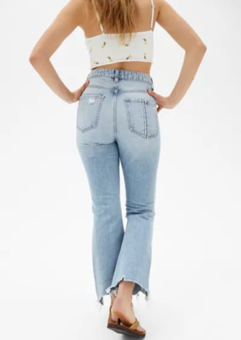 Urban Outfitters Exclusives BDG Wilco Destroyed High-Waisted Cropped Flare Jean