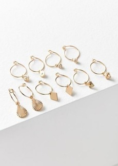 Urban Outfitters Exclusives Charmed Hoop Earring Set