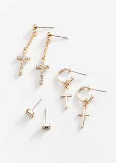 Urban Outfitters Exclusives Delicate Cross Earring Set