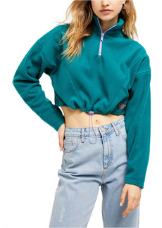 Urban Outfitters Exclusives Fleece Crop Track Pullover
