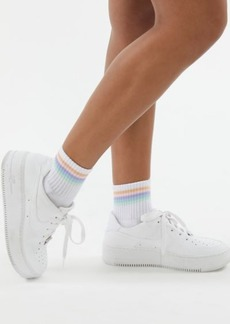 Urban Outfitters Exclusives Rainbow Striped Quarter Sock