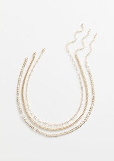 Urban Outfitters Exclusives Simple Chain Necklace Set