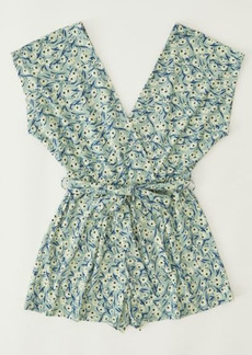 Urban Outfitters Exclusives UO Billie Plunging Wrap Romper