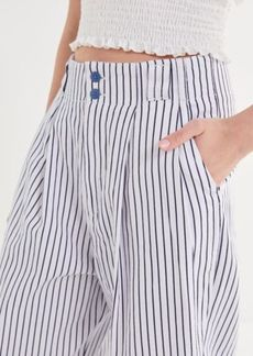 Urban Outfitters Exclusives UO Mack Striped Pleated High-Waisted Trouser Pant