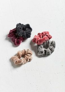 Urban Outfitters Exclusives Velvet Scrunchie Charming Set