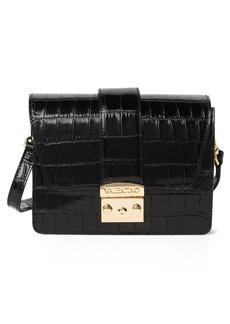 Valentino by Mario Valentino Benedicte Croc Embossed Leather Crossbody Bag