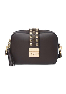 Valentino by Mario Valentino Lila Studded Leather Camera Crossbody Bag