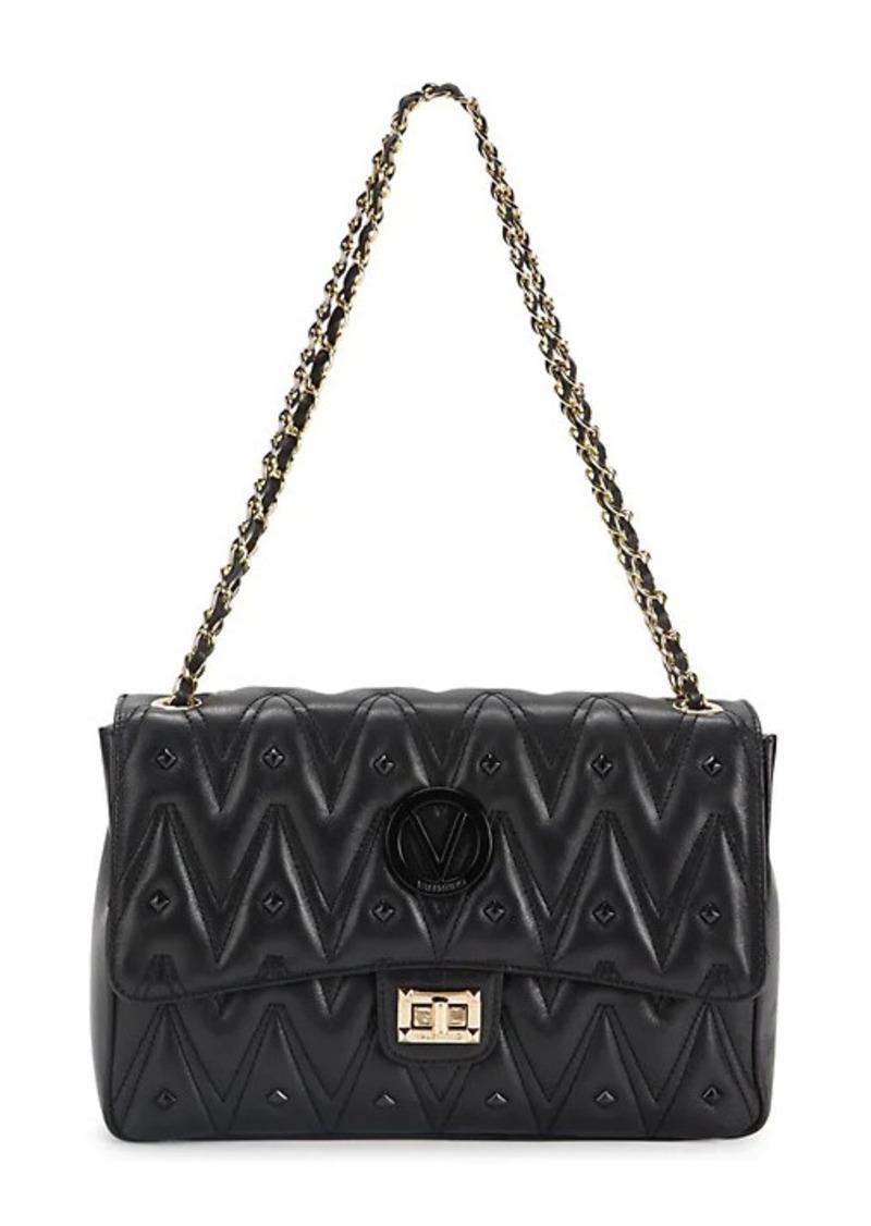Valentino by Mario Valentino Posh Sauvage Stud-Embellished Leather Shoulder Bag