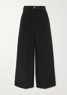 Valentino Cropped Wool-blend Wide-leg Pants