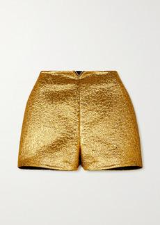 Valentino Embellished Lamé Shorts