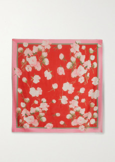 Valentino Floral-print Cashmere And Silk-blend Scarf