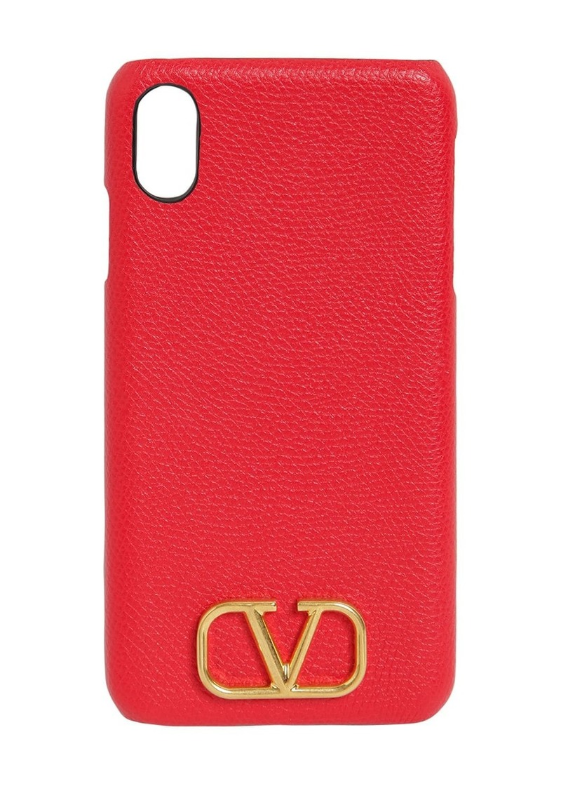 Valentino Grained Leather Iphone Xs Max Case