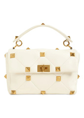 Valentino Large Roman Stud Leather Shoulder Bag