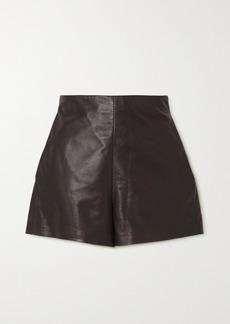 Valentino Leather Shorts