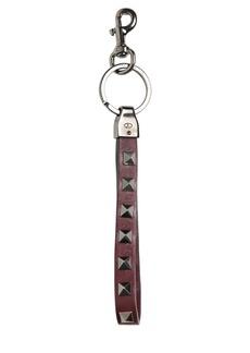 Valentino Rockstud & Leather Key Holder