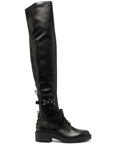 Valentino Rockstud over-the-knee combat boots