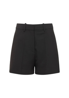 Valentino Stretch Wool Blend Mini Shorts