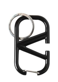 Valentino V Logo Metal Key Holder