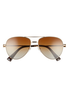 Valentino 57mm Gradient Polarized Pilot Sunglasses