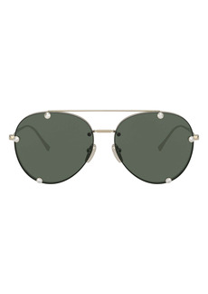 Valentino 59mm Aviator Sunglasses