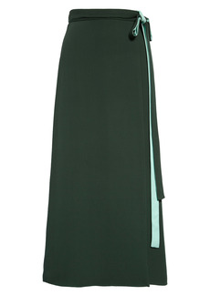 Valentino Contrast Wrap Silk Cady Skirt