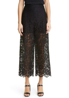 Valentino Crop Scalloped Lace Pants