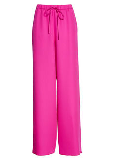 Valentino Drawstring Wide Leg Silk Pants