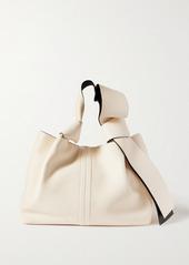 Valentino Garavani 02 Bow Edition Atelier Small Textured-leather Tote