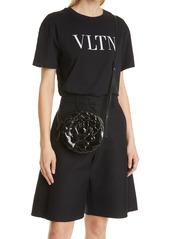 Valentino Garavani Atelier Rose Leather Shoulder Bag