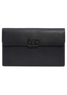 Valentino Garavani Large VSling Leather Flat Pouch