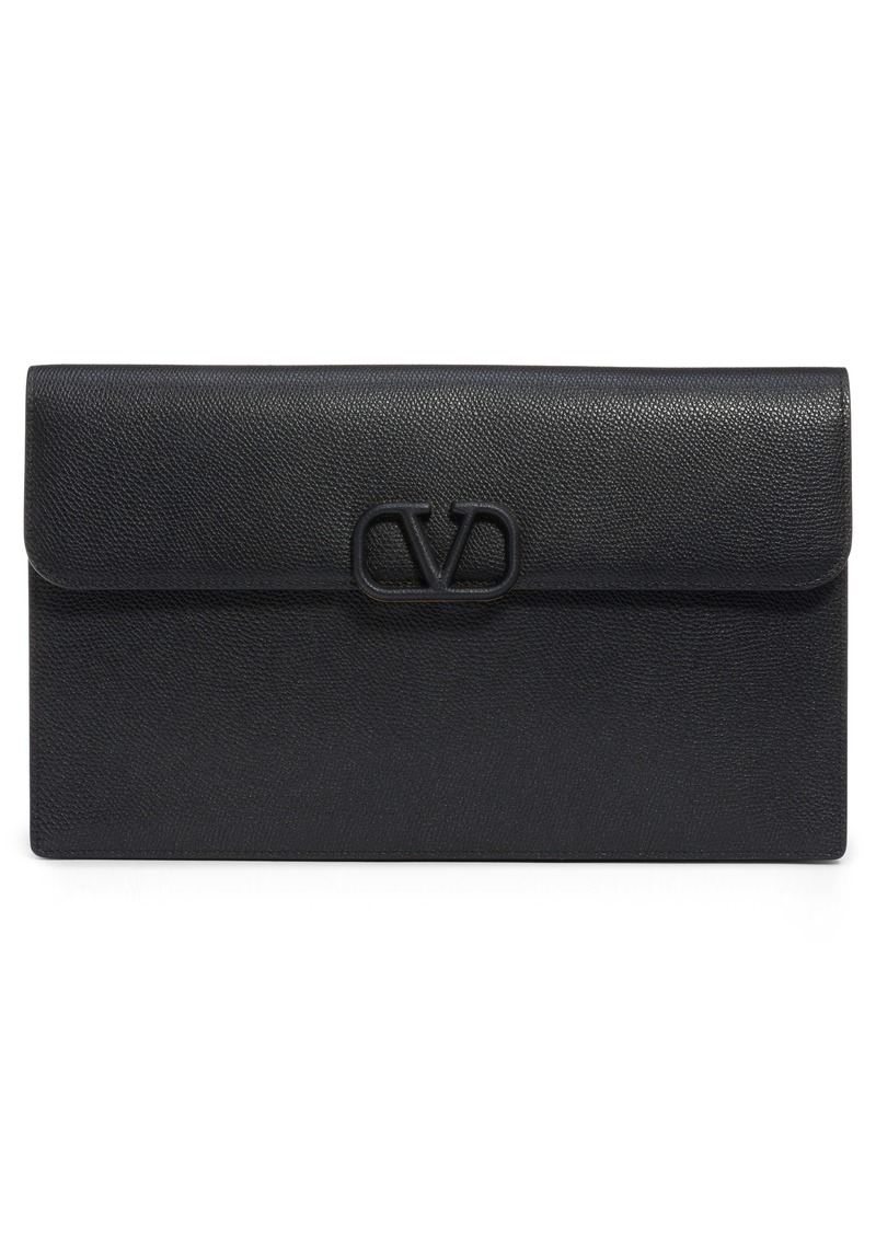 Valentino Garavani Large VSling Leather Flat Pouch