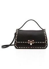 Valentino Garavani Medium Rockstud Leather Top Handle Bag