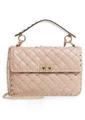 Valentino Garavani Medium Rockstud Matelassé Quilted Leather Shoulder Bag