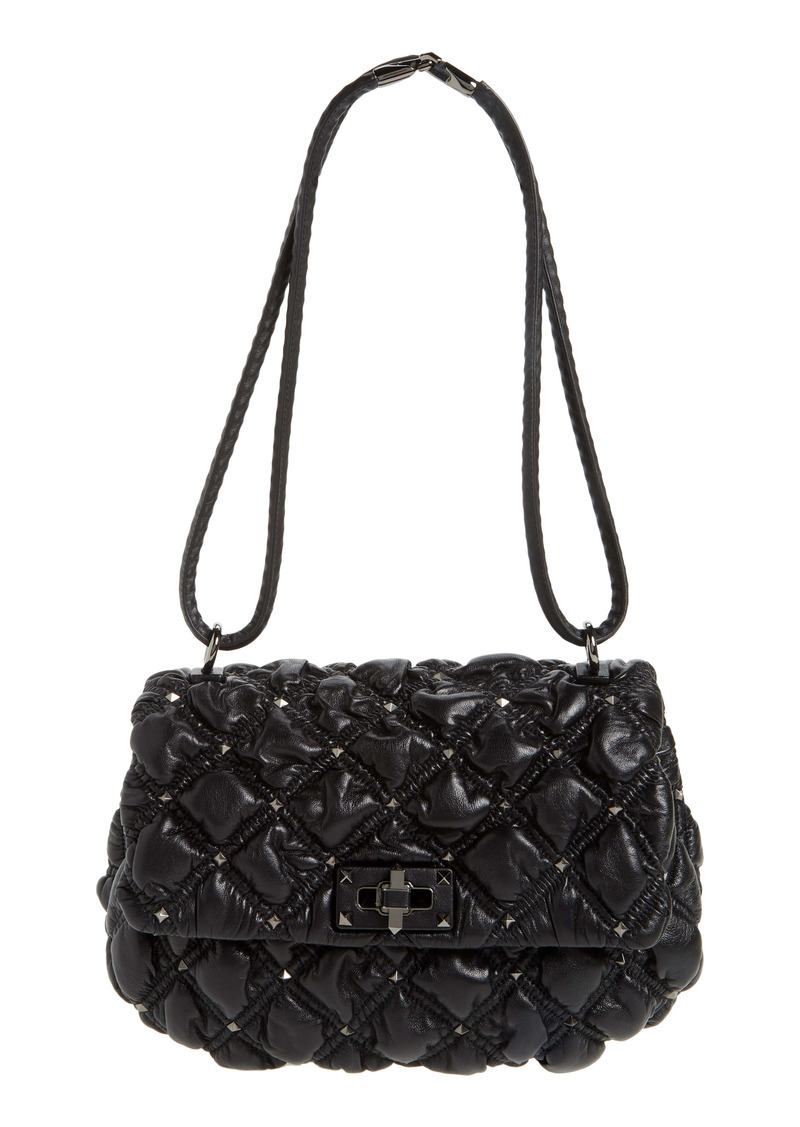 Valentino Garavani Medium Spikeme Quilted Leather Bag