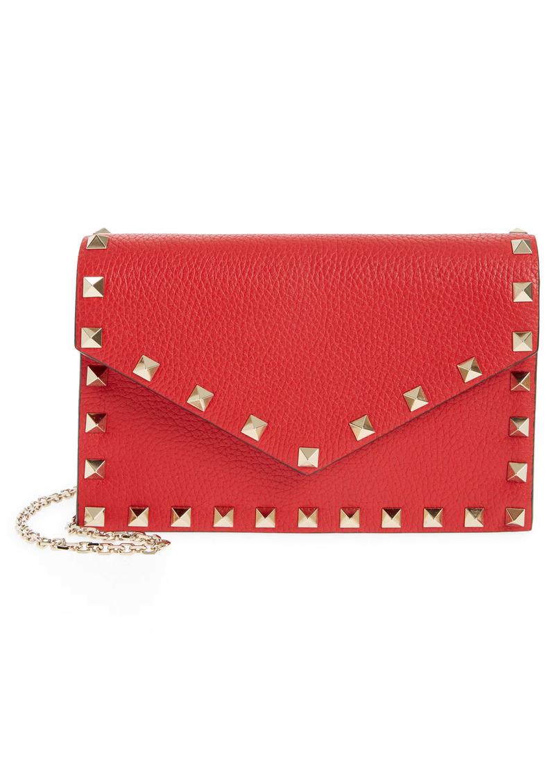 Valentino Garavani Mini Rockstud Leather Envelope Crossbody