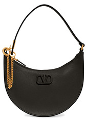 Valentino Garavani Mini VLOGO Leather Hobo Bag